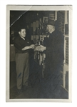 CY YOUNG TWICE SIGNED PHOTO WITH GRANGER TOBACCO (JSA LOA)