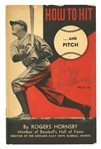 "1940S ROGERS HORNSBY SIGNED ""HOW TO HIT AND PITCH"" BOOK (PSA LOA)"