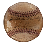 1940 DETROIT TIGERS AMERICAN LEAGUE CHAMPIONS TEAM SIGNED BASEBALL INCL. CLARK GRIFFITH & WILLIAM HARRIDGE (JSA LOA)
