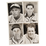 GROUP OF (4) ST. LOUIS CARDINALS TYPE 1 ORIGINAL PHOTOS USED IN THE 1941 DOUBLE PLAY ISSUE