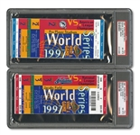 1997 WORLD SERIES (MARLINS OVER INDIANS) PAIR OF FULL TICKETS - GAME 2 @ FLA AND GAME 3 @ CLE (BOTH PSA NM-MT 8)