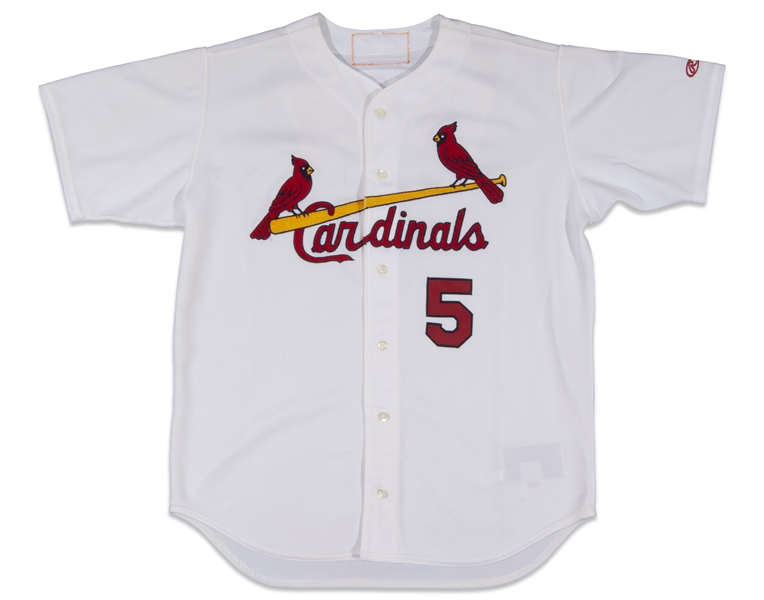 2001 ALBERT PUJOLS GAME WORN ST. LOUIS CARDINALS ROOKIE JERSEY