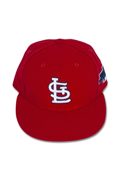 2013 CHRIS CARPENTER ST. LOUIS CARDINALS NLCS GAME ISSUED HAT (MLB COA)