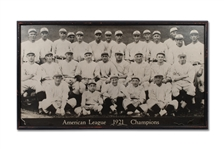 1921 NEW YORK YANKEES LARGE-FORMAT TEAM PHOTOGRAPH WITH BABE RUTH - ORIGINATING FROM YANKEE STADIUM