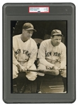 1932 BABE RUTH AND LOU GEHRIG ORIGINAL PHOTOGRAPH - (PSA/DNA TYPE I)