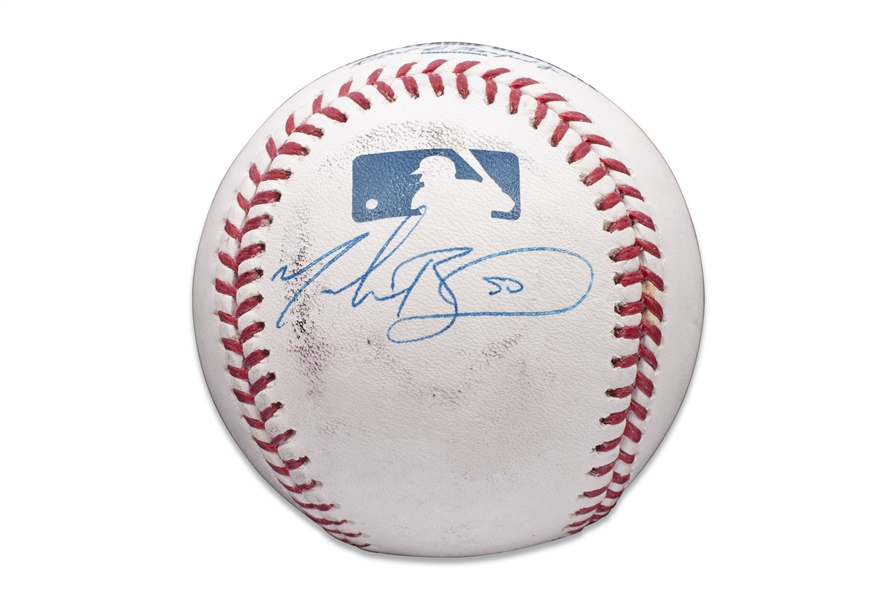 MOOKIE BETTS SINGLE SIGNED OML (MANFRED) BASEBALL (JSA COA)
