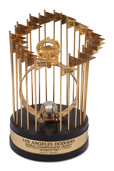 1988 LOS ANGELES DODGERS WORLD SERIES TROPHY