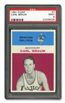 1961 FLEER #7 CARL BRAUN - PSA MINT 9