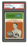1961 FLEER #9 LARRY COSTELLO - PSA MINT 9