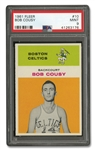 1961 FLEER #10 BOB COUSY - PSA MINT 9