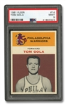 1961 FLEER #14 TOM GOLA - PSA MINT 9
