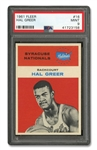 1961 FLEER #16 HAL GREER - PSA MINT 9