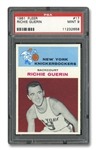 1961 FLEER #17 RICHIE GUERIN - PSA MINT 9