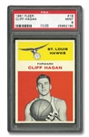 1961 FLEER #18 CLIFF HAGAN - PSA MINT 9