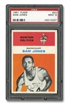 1961 FLEER #23 SAM JONES - PSA MINT 9