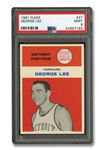 1961 FLEER #27 GEORGE LEE - PSA MINT 9
