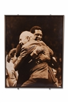 BILL RUSSELL AND RED AUERBACH DUAL SIGNED 18X20 SEPIA PHOTOGRAPH - JSA