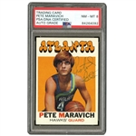 1971 SIGNED TOPPS #55 PETE MARAVICH - PSA/DNA NM-MT 8