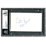 "LEN BIAS AUTOGRAPHED INDEX CARD 3"" X 5"", UNIV. OF MARYLAND (BECKETT 10 AUTO)"