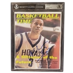ALLEN IVERSON AUTOGRAPHED AUGUST 1, 1996 BASKETBALL TIMES MAGAZINE COVER COPY (BECKETT ENCAPSULATED) (TIM GALLAGHER COLLECTION)