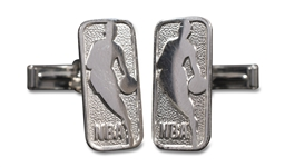 2008 NBA ALL-STAR CUFFLINKS 14K GOLD AND STERLING SILVER