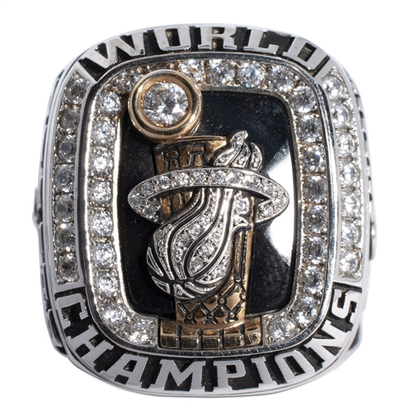 2012 MIAMI HEAT NBA CHAMPIONSHIP 10K GOLD RING PRESENTED TO THOMAS FRASER