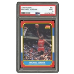 1986 FLEER #57 MICHAEL JORDAN - PSA MINT 9