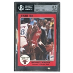 1985 STAR TEAM SUPERS 5X7 #CB1 MICHAEL JORDAN - BGS NM-MT + 8.5