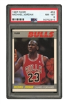 1987 FLEER BASKETBALL #59 MICHAEL JORDAN - PSA NM-MT 8