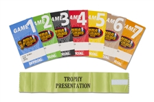 1998 NBA FINALS BULLS VS. JAZZ GAMES 1 THROUGH 7 (SERIES WENT 6 GAMES) ORIGINAL MEDIA PASSES WITH TROPHY PRESENTATION ARM BAND