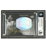 2011 UPPER DECK BASKETBALL EXCUISITE COLLECTION #CB-JO AUTOGRAPHED MICHAEL JORDAN - BGS