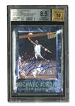 2013 FLEER ULTRA RETRO BASKETBALL #10 AUTOGRAPHED MICHAEL JORDAN - BGS 8.5 AUTO. 10
