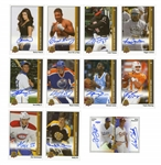 2014 GROUP OF (11) AUTOGRAPHED UPPER DECK LAS VEGAS INDUSTRY SUMMIT 25TH ANNIVERSARY CARDS INCL. MICHAEL JORDAN, PEYTON MANNING AND WAYNE GRETZKY