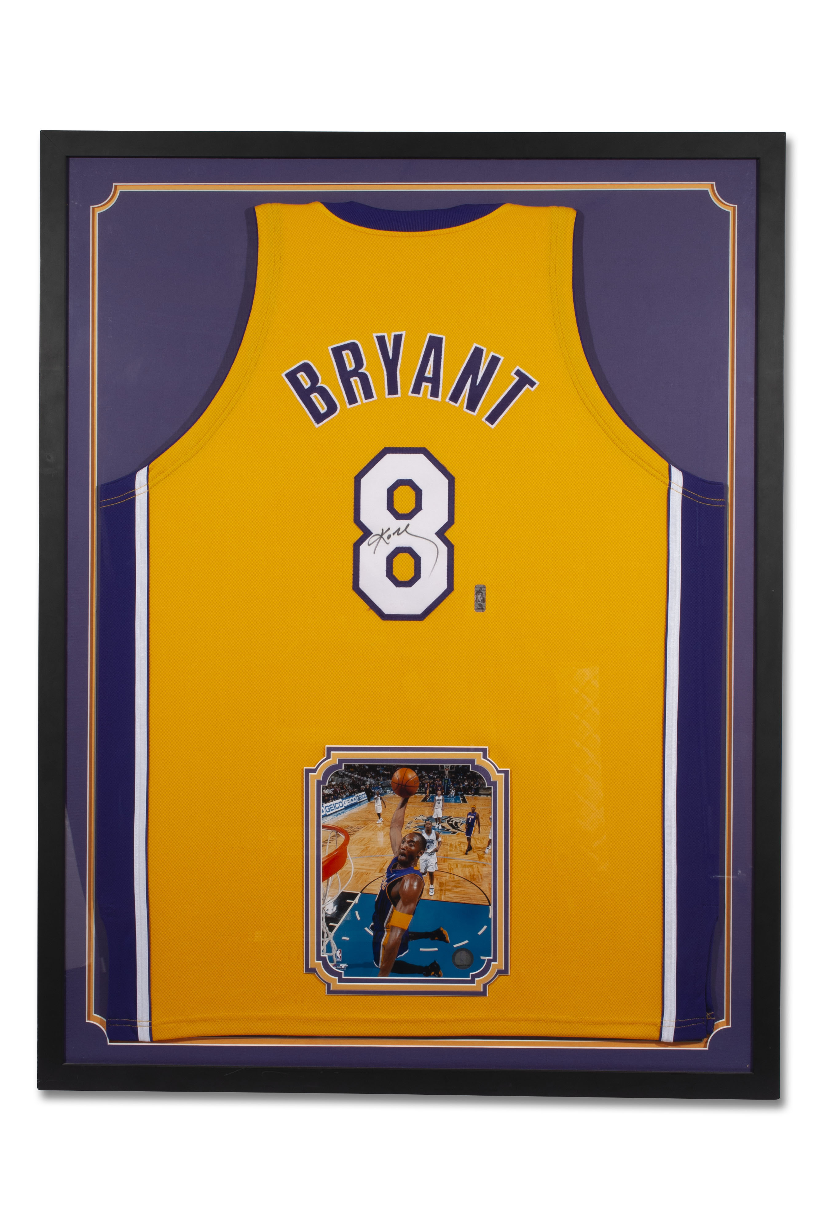 Lot Detail - KOBE BRYANT AUTOGRAPHED LOS ANGELES LAKERS #8 HOME ...