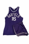CLYDE LOVELLETTES C. 1946-48 GARFIELD HIGH SCHOOL (IND.) GAME WORN ROAD UNIFORM (LOVELLETTE COLLECTION)