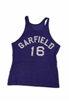 CLYDE LOVELLETTES C. 1946-48 GARFIELD HIGH SCHOOL (IND.) GAME WORN ROAD JERSEY (LOVELLETTE COLLECTION)