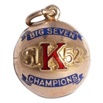CLYDE LOVELLETTES 1951-52 KANSAS JAYHAWKS BIG SEVEN CHAMPIONS 10K GOLD CHARM (LOVELLETTE COLLECTION)