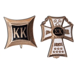 CLYDE LOVELLETTES 1952 KANSAS UNIVERSITY SIGMA CHI AND KK FRATERNITY CHARMS (LOVELLETTE COLLECTION)