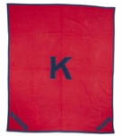 "CLYDE LOVELLETTES KANSAS JAYHAWKS 1950-1952 CAREER LETTERMAN ""K"" BLANKET - 5x5 FT. (LOVELLETTE COLLECTION)"