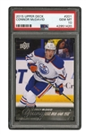 2015 UPPER DECK #201 CONNOR MCDAVID - PSA GEM MINT 10