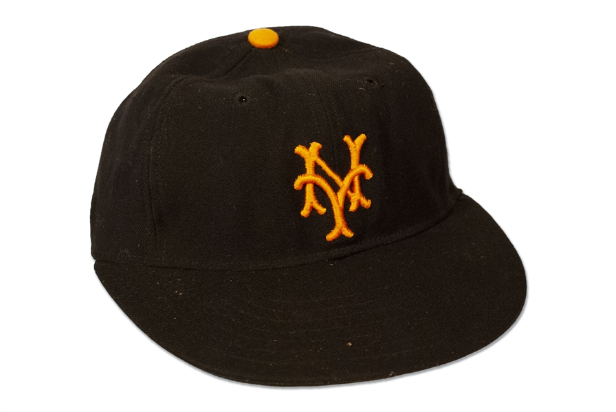 "BOBBY THOMSONS 1951 NEW YORK GIANTS CAP WORN TO HIT ""THE SHOT HEARD ROUND THE WORLD"" (IMPECCABLE PHOTO PROVENANCE - EX NATIONAL BASEBALL HALL OF FAME) (AL TAPPER COLLECTION)"