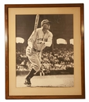 "EXQUISITE LARGE BABE RUTH SIGNED 17 X 21"" PHOTOGRAPH (AL TAPPER COLLECTION) - PSA/DNA LOA & JSA LOA"