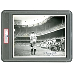 "RARE 1948 ORIGINAL PHOTO ""THE BABE BOWS OUT"" BY NAT FEIN (AL TAPPER COLLECTION) - PSA/DNA TYPE I"