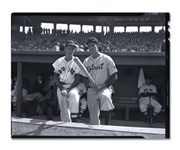 CIRCA 1942 TED WLLIAMS AND HANK GREENBERG ACETATE NEGATIVE ON KODAK SAFETY FILM - EX/MT-NM VINTAGE (AL TAPPER COLLECTION)