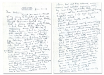 JANUARY 21, 1949 TY COBB SIGNED AND HANDWRITTEN FOUR-PAGE LETTER (AL TAPPER COLLECTION) - PSA/DNA LOA