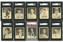 1939 PLAY BALL COMPLETE SET (161) WITH WILLIAMS - PSA EX MT 6, DIMAGGIO - SGC EX+ 5.5 & (8) OTHERS SGC GRADED (AL TAPPER COLLECTION)