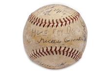 "MARK SCOTTS OWN 1960 AUTOGRAPHED ""HOME RUN DERBY"" BASEBALL - PSA/DNA LOA & LETTER OF PROVENANCE FROM SCOTTS FAMILY (AL TAPPER COLLECTION)"