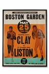 RARE 1965 CASSIUS CLAY (MUHAMMAD ALI) VS. SONNY LISTON ON-SITE BOSTON GARDEN POSTER (AL TAPPER COLLECTION)