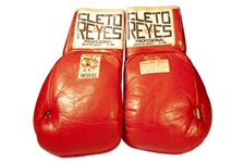 "SUGAR RAY LEONARDS FIGHT-WORN GLOVES FROM 1980 BOUT VS. ROBERTO DURÁN (LEONARD/DURÁN II ""NO MÁS"") (DUNDEE FAMILY LOA) (AL TAPPER COLLECTION)"