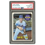 1969 TOPPS #533 NOLAN RYAN AUTOGRAPHED BASEBALL CARD - RYAN FIRST INDIVIDUAL CARD - MIRACLE METS CHAMPIONSHIP SEASON - PSA/DNA GEM MT 10 AUTO